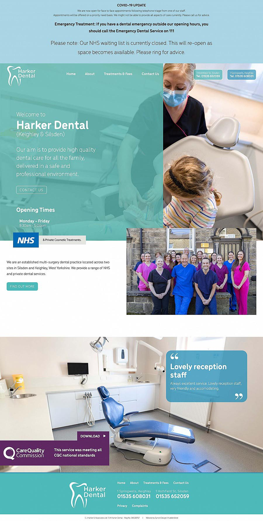 Harker dental website1