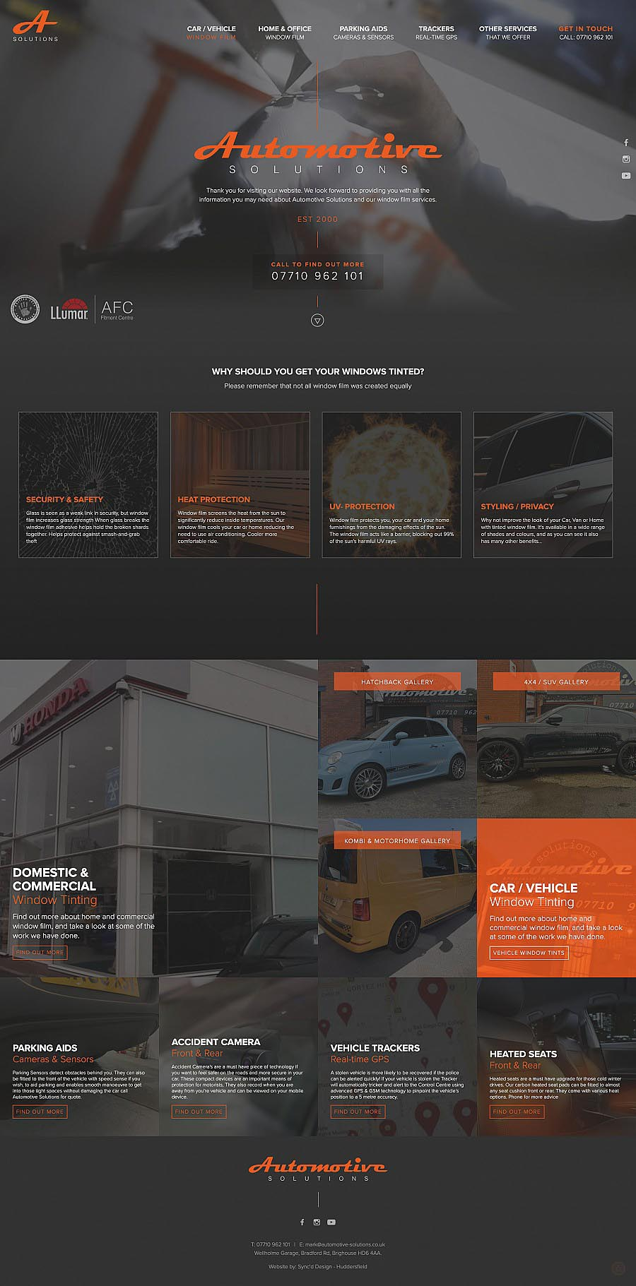 Automotive Solutions window tinting website