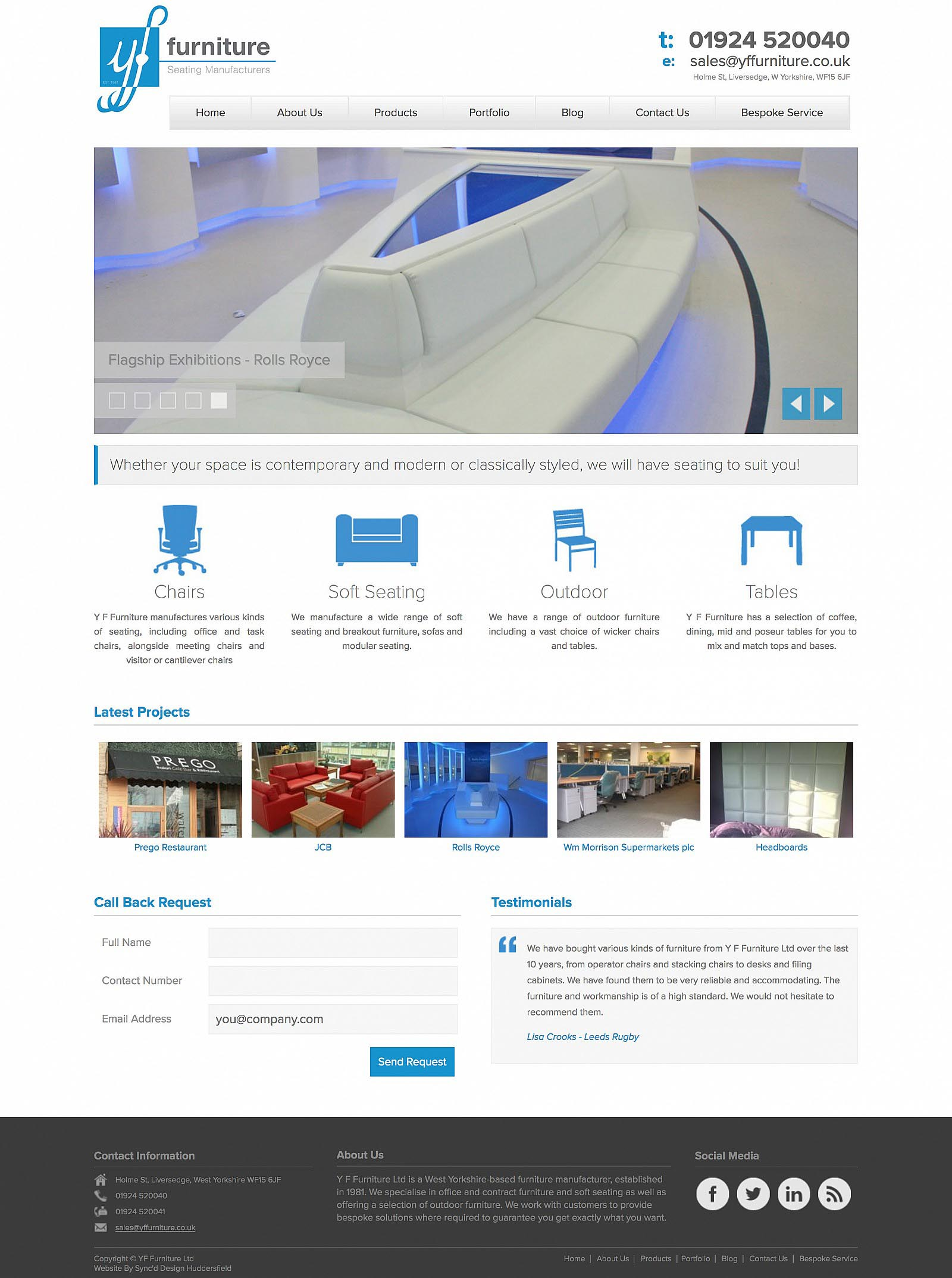 YF Furniture - Website - Home Page